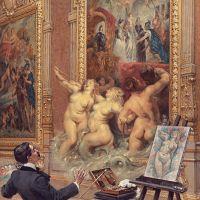 Louis Béroud, les joies de l'inondation (dans la Galerie Médicis)