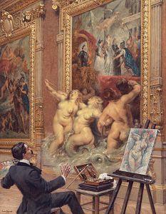 Louis Béroud, les joies de l'inondation (galerie Médicis), 1910, collection Iris & B. Gerald Cantor