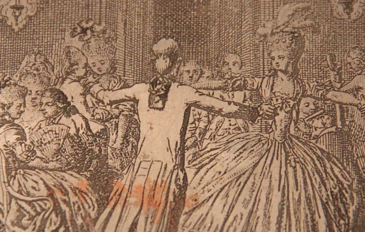 Daniel Chodowiecki, La danse, détail de la matrice, 1780-1781.