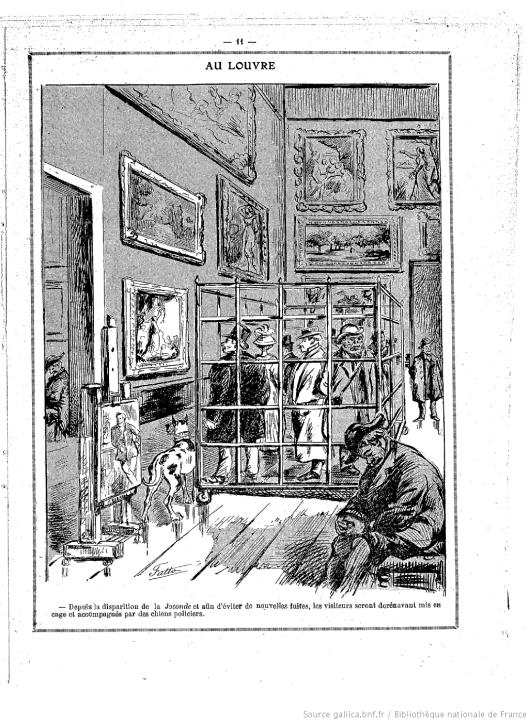 Visiteurs cage Louvre vol Joconde