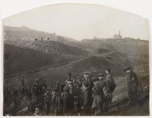 Félix THIOLLIER, Mineurs à Saint-Etienne, vers 1900, musée Art moderne Saint Etienne