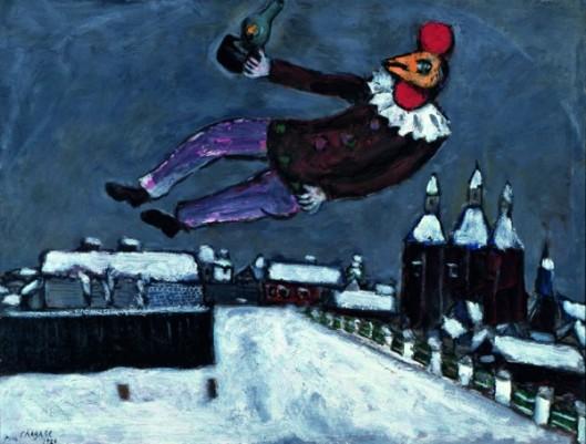 Homme-coq au-dessus de Vitebsk, 1925collection privée