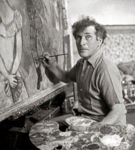 Marc Chagall peignant