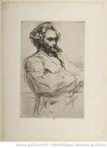 Whistler, Drouet sculpteur, 1859, eau-forte, 2e état, BnF