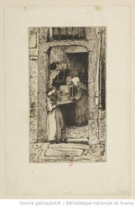 Whistler, La marchande de moutarde, eau-forte, 2e état, 1858, BnF