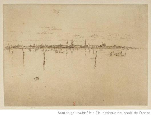 Whistler, Little Venice, 1880, eau-forte, 1e état, BnF