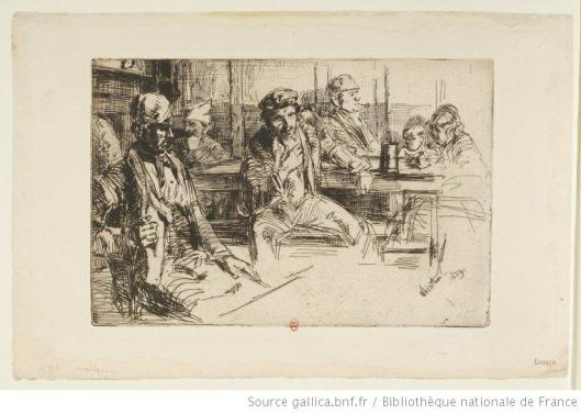 Whistler, Longshoremen, 1859, eau-forte, BnF