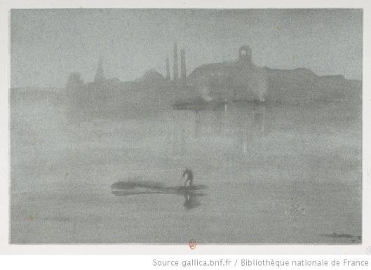 Whistler, Nocturne, le fleuve à Battersea, 1878, lithographie, BnF
