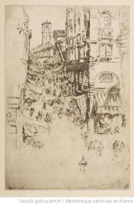 Whistler, Rialto, 1886, eau-forte, 1e état