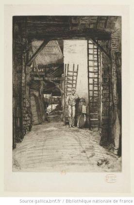 Whistler, The lime-burner, 1859-1871, eau-forte, 2e état,  BnF