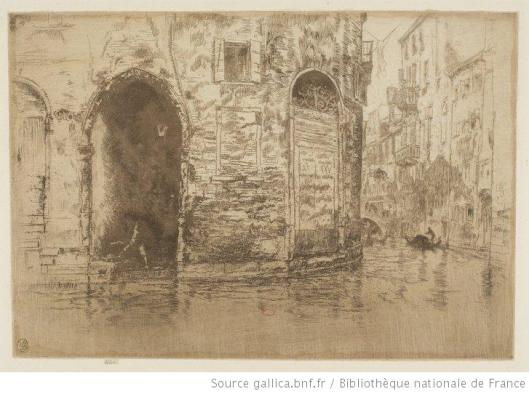 Whistler, Two doorways, 1880, eau-forte, 3e état, BnF