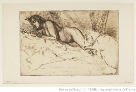 Whistler, Vénus, eau-forte, 2e état, 1859, BnF