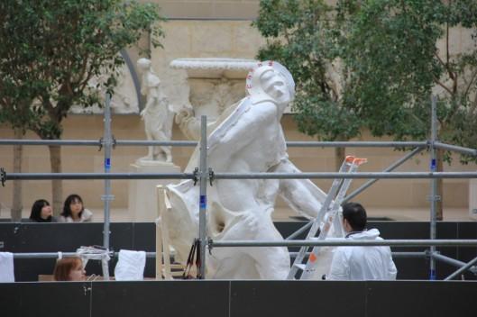Moulage du Milon de Crotone au Louvre 1