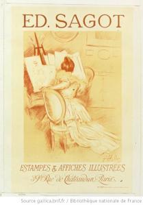 Helleu,  Ed. Sagot. Estampes et affiches illustrées, 1900, Gallica/BnF