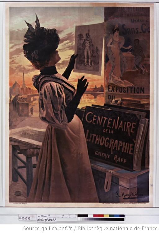 Hugo d'Alési, Exposition du Centenaire de la lithographie Galerie Rapp, 1895