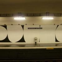 Chambre double, une station de métro comme oeuvre d'art.