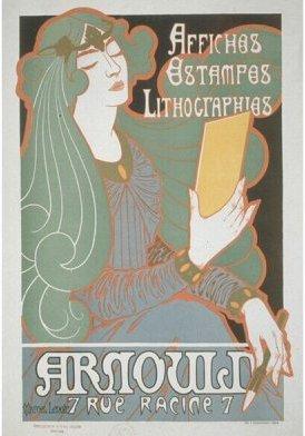 Affiche Arnould, 7 rue Racine, Marcel-Lenoir, vers 1895 © Jean Tholance