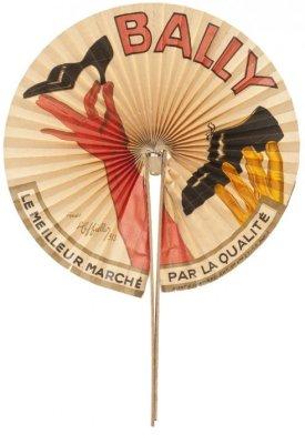 Eventail, Bally, d'après Leonetto Cappiello, 1933, bois, métal, papier, lithographie couleur  Don Anne et Michel Lombardini, 2011  © Jean Tholance