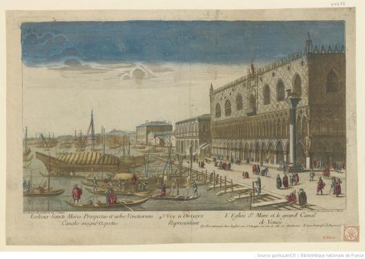 43e. Vuë d'Optique representant l'Eglise St. Marc et le grand Canal de Venise, éditée par Basset et Lachaussée, vers 1780, Gallica/BnF