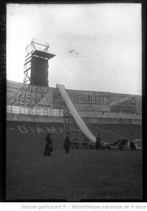 Agence Rol, Appareil de Gadbin [tremplin pour un vélo, 2 février 1908 à Buffalo], Gallica/BnF