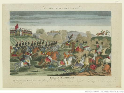 Bataille d'Austerlitz, éditée chez Jacques Chereau, vers 1805, Gallica/BnF