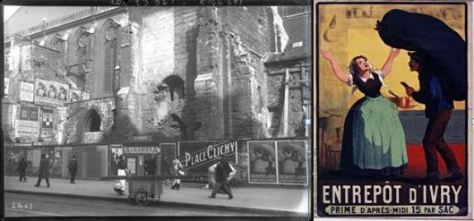 Agence Rol, l'église de la rue Réaumur, 1912 / Anonyme, l'entrepôt d'Ivry, date incertaine.