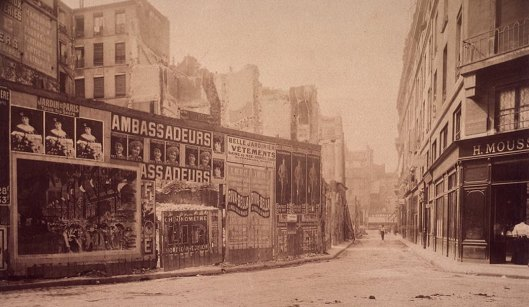 Atget, Rue des Deux-Ecus pendant sa démolition, 11 Septembre 1907, Gallica/BnF