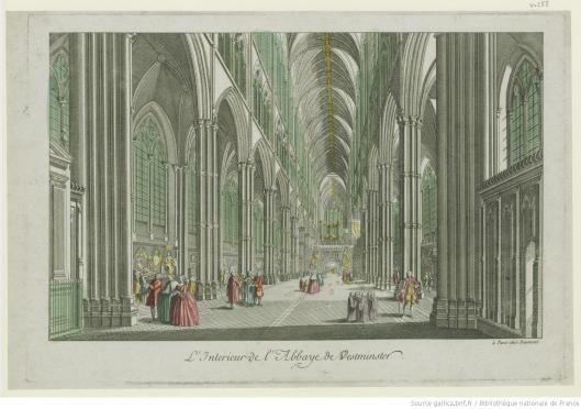 L'Intérieur de l'Abbaye de Westminster, édité chez Daumont, 1760, Gallica/BnF