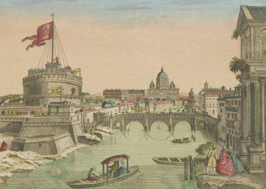vue d'optique d'une partie de la Ville de Rome, chez Basset, vers 1760, Gallica/BnF