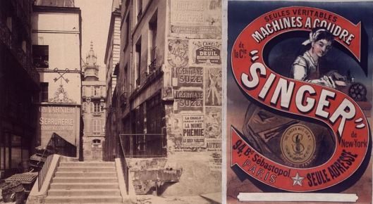 "Atget, rue Saint-Bon, quartier Saint-Merri, 1903-1904 / Chéret, ""Singer"", 1870."