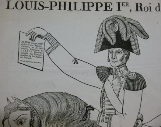Jean-Baptiste Thiébault, Louis-Philippe Ier, roi des Français, 1830, xylographie, ed. Desfeuilles, Nancy (BnF, estampes)