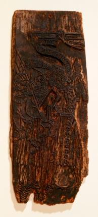 Bois Protat, face avec la Crucifixion, matrice en bois, fin XIVe - début XVe siècle, BnF