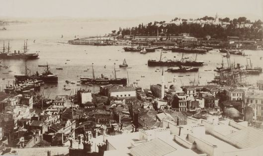 Mihran Iranian, Panorama de Constantinople pris de la tour de Galata, 1895, Gallica/BnF (détail)