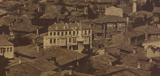 Pascal Sebah, Panorama de Constantinople pris de la tour de Galata, 1875, INHA (détail)