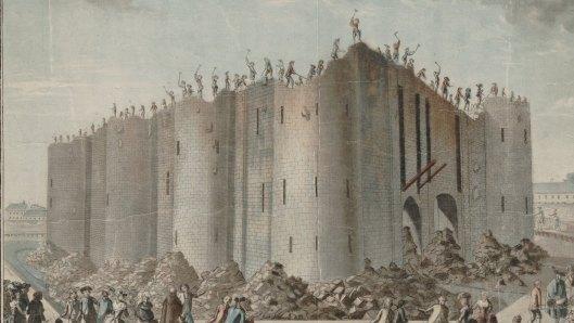 Demolition de la Bastille, estampe, éditée par