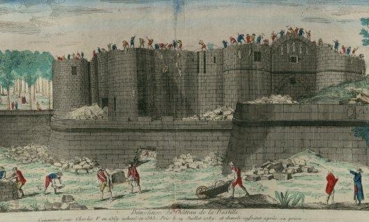 Démolition du Château de la Bastille, vue d'optique, v. 1790, Gallica/BnF