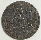 Médaille fondue avec le métal des chaînes de la Bastille, 1789, plomb repoussé, Musée Carnavalet