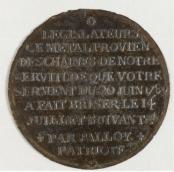 Palloy, Médaille fondue avec le métal des chaînes de la Bastille, 1789, plomb, Musée Carnavalet