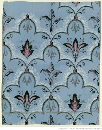 Manufacture Chapillon. Papier à motif répétitif, 1802