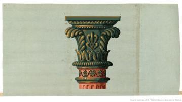 Manufacture Jacquemart et Bénard. Eléments d'architecture chapiteau de colonne, 1803