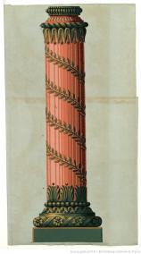 Manufacture Jacquemart et Bénard. Eléments d'architecture portion de colonne, 1803