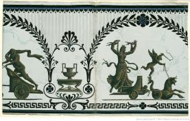 Manufacture Jacquemart et Bénard. Lambris scènes à l'antique. Modèle n° 1643 bis, 1803