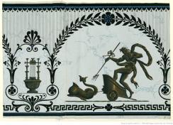 Manufacture Jacquemart et Bénard. Lambris à fond de marbre groupe à l'antique. Modèle 1643, 1803