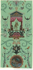 Manufacture Robert. Papier à motif répétitif, 1799