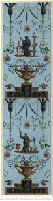 Manufacture Simon. Papier à motif répétitif, figures à l'antique (sphinx et femmes), 1799