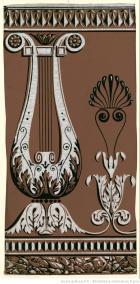Manufacture Soury et Cie. Lambris à motif de balustrade en lyre, 1799
