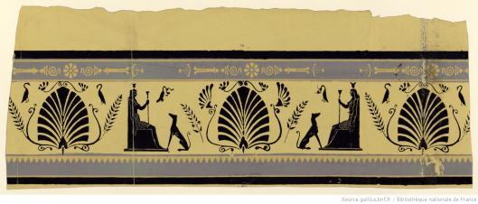 Simon, bordure à motif égyptisant, papier peint, 1799, Gallica/BnF