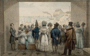 Marlet, Le Dyorama... port de Boulogne, lithographie, s. d., coll. George Eastman House, Rochester
