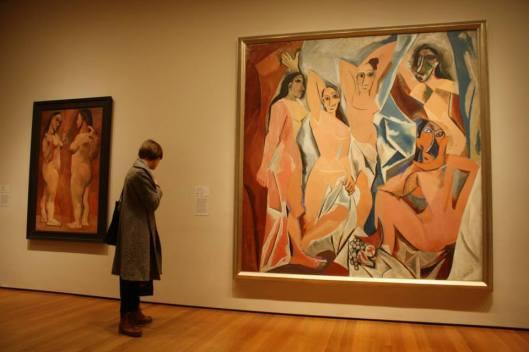 Picasso, Les Demoiselles d'Avignon, 1907, MoMA, photo Virgile Septembre