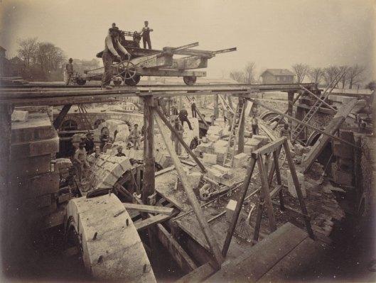 Durandelle, chantier de construction du Sacré-Coeur de Paris,  1877-1882, Gallica/BnF